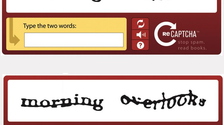 The CAPTCHA Entry Done Online In The Application