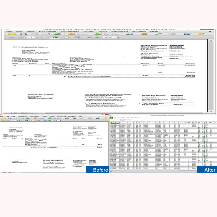 Digitization Of Invoices Into Excel Sheet Format
