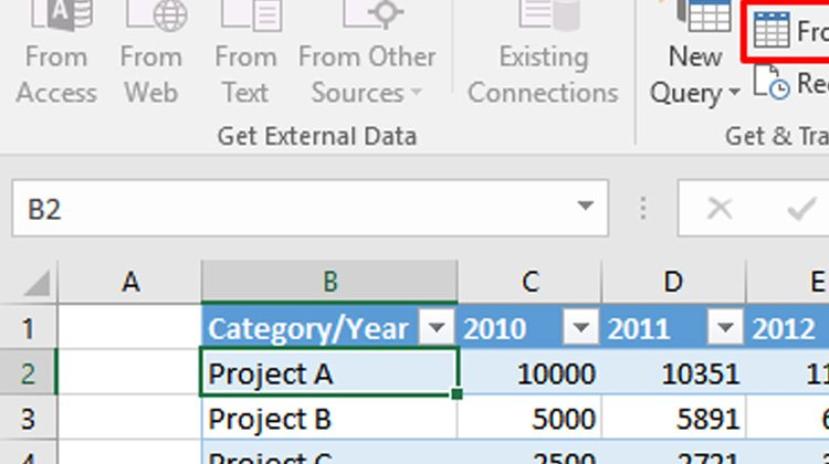Transform The Tabular Data Into Excel